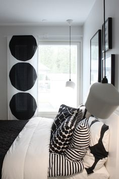 Home Living Room, Interior Design Living Room, Monochrome Interior, Scandinavian Style Home, Bedroom Decor, Boho, Marimekko, Home Decor, Decoration