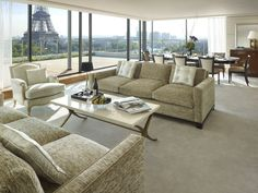 Shangri-La Suite at the Shagri-La Hotel Paris  Ooh la la! Tres chic!