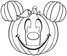 Mickey Mouse Pumpkin - Free Disney Halloween Coloring Pages Halloween Coloring Pages Printable, Free Halloween Coloring Pages, Pumpkin Coloring Pages, Disney Coloring Pages, Free Printable Coloring Pages, Coloring Pages For Kids, Coloring Books, Free Halloween Printables, Halloween Coloring Pictures