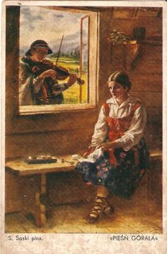 Old Easter Post Card — Wesołego Alleluja, 1938 ilustrations - Old Easter Post Card — Wesołego Alleluja, 1938 ilustrations You are in the rig - Most Beautiful Pictures, Cool Pictures, Polish Folk Art, Best Icons, Cool Themes, My Heritage, Folklore, Kids Playing, Kunst