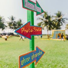 #Wedding #signage is a hot trend - we've showcased #vintage #wooden signs and #lovequote #signage before but how cute these #quirky #desi ones!! perfect for a #mehendi / #sangeet! @designtuktuk #weddinginspiration #weddingideas #indianwedding #weddinginspo