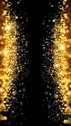 Golden Shiny Shiny Black Background Splashed With Gold Pawn H5 Background