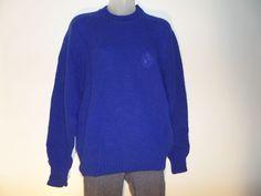 "SWEATERS Women's Sweaters Size-(  ) 22""/25""/25"" Blue Crewneck Nice! #Seaters #Crewneck"