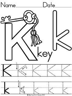 templates Free Handwriting Worksheets, Alphabet Tracing Worksheets, Alphabet Activities, Kindergarten Assessment, Free Kindergarten Worksheets, Kindergarten Lessons, Preschool Writing, Preschool Letters, Head Start Classroom