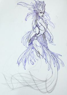 Image result for mermaid sketch