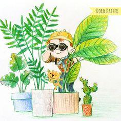 Doodle, Kinderbild, Kinderbuch,  Kinderillustration, Bilder für Kinder von Doro Kaiser | Grafik & Illustration