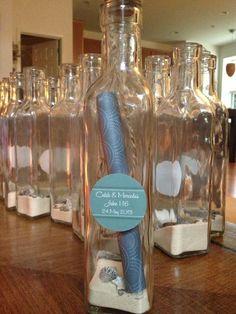 Message In A Bottle Wedding Invitation Beach Wedding