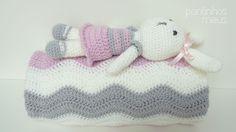 pontinhos meus: Manta bebe ondas rosa - Pink waves baby blanket