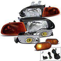 Cheap Honda Civic 2 3 Dr Dx Lx Black Headlights Corner Fog Lights Side Marker…