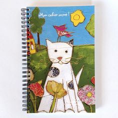 Journal intime • Chat - reproductions des toiles d'isabelle Malo Isabelle, Notebook, Bullet Journal, Paper, Illustration, Handmade, Caro Diario, Paper Mill, Cat Breeds