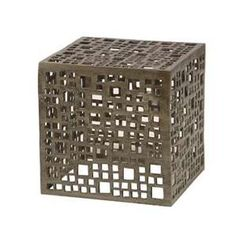 Indoor or Outdoor Geometric Cube Aluminum Frame Will Oxidize Over Time if Used Outside Each Piece is Unique Sizes, Colorations and Shapes Vary