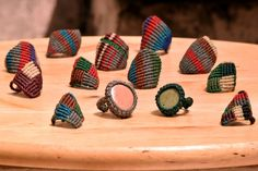 macrame rings • colors