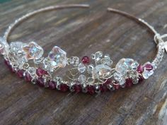 Childs tiara bridesmaid special occassion flower by Jaychelle