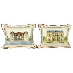 Discover a huge selection of decorative pillows including Aubusson tapestry style pillows from France. Shop hand-painted silk pillows at Scully & Scully. Luxury Home Decor, Luxury Homes, Home Decor Accessories, Decorative Accessories, Scully And Scully, Architectural Prints, Silk Pillow, Leather Books, Silk Painting