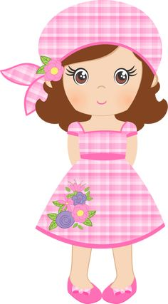 "Photo from album ""«Spring Shabby Chic Girl Cartoon, Cute Cartoon, Eid Stickers, Doll Quilt, Foam Crafts, Cute Images, Cute Illustration, Baby Quilts, Paper Dolls"