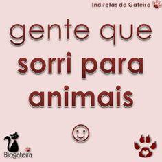 Blogateira: GENTE QUE SORRI PARA ANIMAIS