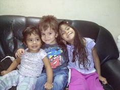 Mis tres bellezas siempre juntos
