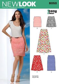 New Look 6053 Misses' Skirts Sewing Pattern, Size A (8-10-12-14-16-18) Simplicity Creative Group Inc - Patterns http://www.amazon.com/dp/B0051GNV1I/ref=cm_sw_r_pi_dp_9ltdwb14171N7