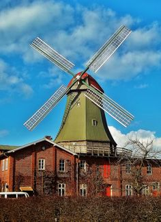 Windmill with Fantail Osterholz-Scharmbeck, Germany