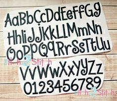 Hambone Embroidery Font - 3 Sizes! | Alphabets | Machine Embroidery Designs | SWAKembroidery.com The Itch 2 Stitch