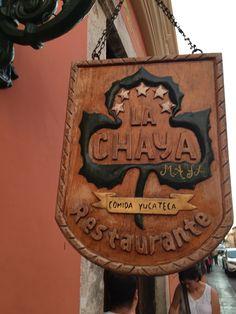 La Chaya Maya:  delicious Yucatan cuisine in Merida, Mexico