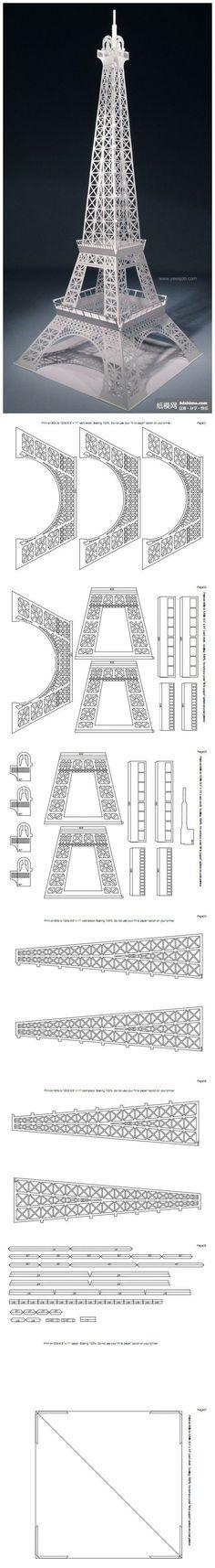 Paper eiffel tower diy