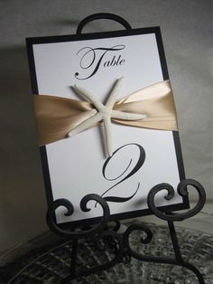 elegant beach wedding images: maybe silver and blue instead Beach Wedding Tables, Card Table Wedding, Wedding Table Numbers, Beach Weddings, Wedding Images, Our Wedding, Dream Wedding, Wedding Ideas, Wedding Inspiration