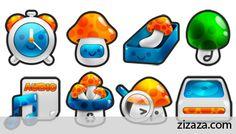 Icon set - Iconset: Mushroom - Zizaza item for free