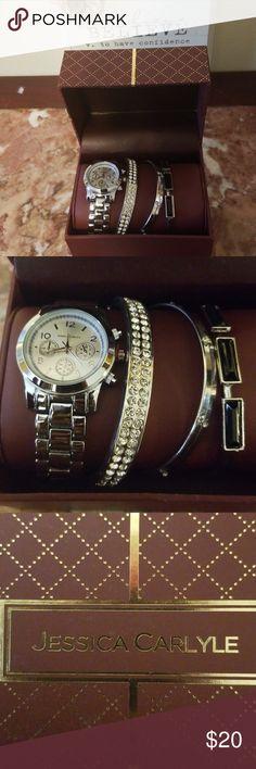 7d9137fe13cc Jessica Carlyle Women's Watch/Charm Bracelet Watch with charm bracelets New Jessica  Carlyle Jewelry Bracelets