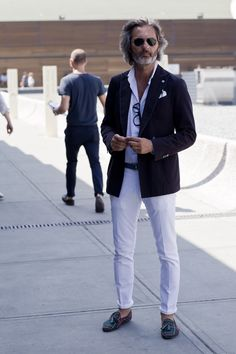 Style is adored by all ages. in fact, the older you are the more eclectic you can be! Pitti Uomo Summer 2013, Florence