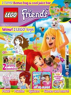 In this issue of Lego Friends there are 2 toys! A cool juice bar plus a Kitchen & Garden set. We've packed this issue with plenty of fresh and fruity ideas, including pretty watermelon jars and colourful fruit bunting - all designed to get you set for Spring. We've also got an exciting comic all about Olivia's new job - so don't miss it!