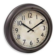 "12"" clock for a smaller space... Geneva Screw Accent Wall Clock - BedBathandBeyond.com"