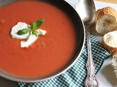 Make and share this La Madeleine's Tomato-Basil Soup recipe from Food.com.