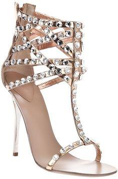 #Giuseppe Zanotti Diamante Sandal  #Pumps #2dayslook #Pumpsfashion  www.2dayslook.com