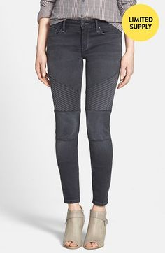 Treasure&Bond Moto Jeans (Washed Black) available at #Nordstrom