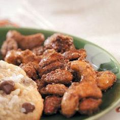Caramel-Coated Spiced Nuts #foods #recipes
