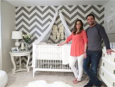 love this room!! and taking a picture while you are pregnant in the nursery! (and who doesn't love jason and molly! lol)