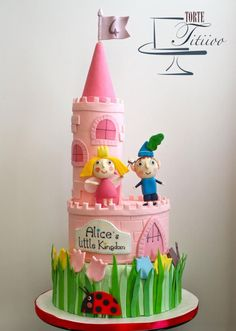 For many months my little Alice wanted this cake … today has taken four years and that is for her the Little Kingdom of Ben and Holly! Ben And Holly Party Ideas, Ben And Holly Cake, Ben E Holly, 3rd Birthday Cakes, Fairy Birthday Party, Third Birthday, 3rd Birthday Parties, Birthday Ideas, Girl Cakes