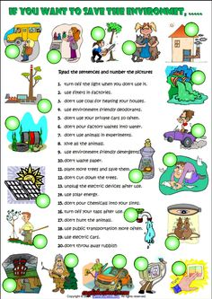 Imperative Sentences about Environment ESL Worksheet Earth Day Projects, Earth Day Crafts, English Teaching Materials, Teaching English, English Exercises, Grammar Exercises, Rules For Kids, Worksheets For Kids, Printable Worksheets