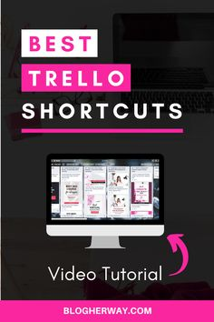 Take your productivity to the next level with these easy Trello shortcuts. What is Trello? Trello is an online productivity tool that helps you manage your t. How To Start A Blog, How To Make Money, Focus At Work, Work Productivity, Keyboard Shortcuts, Blog Topics, Blog Planner, Blogger Tips, Virtual Assistant