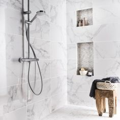 Faïence mur blanc carrare, Murano l.30.5 x L.56 cm