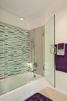 I love this glass hinged door on a normal tub/shower combo. Wonder how well it keeps water out?