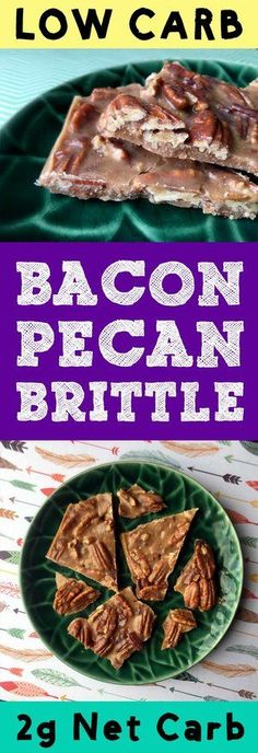 This recipe for Low Carb Bacon Pecan Caramel Brittle is absolutely addictive. And it's the perfect thing to bring to a family or holiday party. Just make a lot. It goes fast. #Keto #banting #diet #GlutenFree #christmas #candy #sugarfree #holidays #holidayrecipes