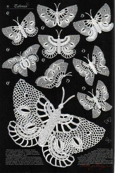 Die 142 Besten Bilder Von Häkeln Schmetterling Crochet Butterfly