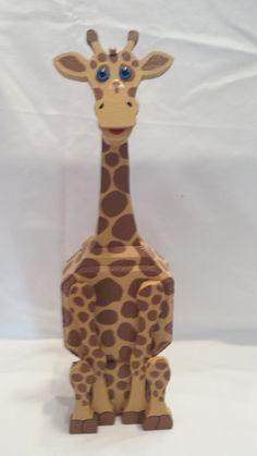 Patio Paver Giraffe Patio Paver Pal hand by CaroleCustomCreation Outdoor Patio Pavers, Paver Walkway, Concrete Paving, Brick Pavers, Paving Stones, Concrete Blocks, Brick Crafts, Wood Crafts, Painted Pavers
