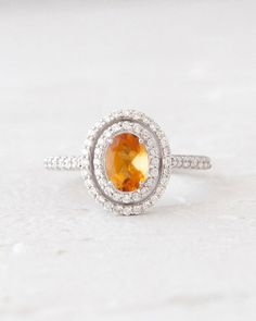 Hey, I found this really awesome Etsy listing at https://www.etsy.com/listing/200721589/natural-citrine-oval-and-diamond-double
