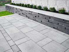 Graphix Wall - Garden and Retaining Walls Backyard Retaining Walls, Retaining Wall Design, Garden Retaining Wall, Stone Retaining Wall, Garden Paving, Fence Design, Garden Design, Garden Paths, Patio Slabs