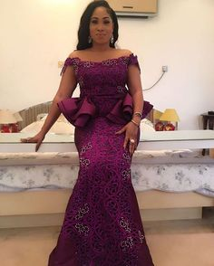 Throw back to this beauty @ada_daisy rocking by @celebrityqueenn. #celebrityqueen #throwbackthursday #purple #owanbe #9jatraditionalfashion #weddingguest African Outfits, African Print Dresses, African Fashion Dresses, African Print Fashion, Africa Fashion, African Attire, African Wear, Ankara Fashion, African Dress