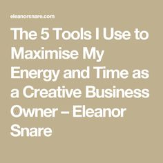 The 5 Tools I Use to