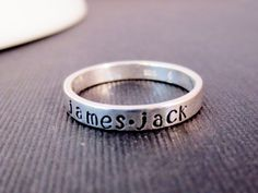 Sterling Silver Personalized Rings, Handstamped Kids Names Phrases, Mom Grandma Sister Aunt Gift, cyber monday etsy. $25.00, via Etsy.
